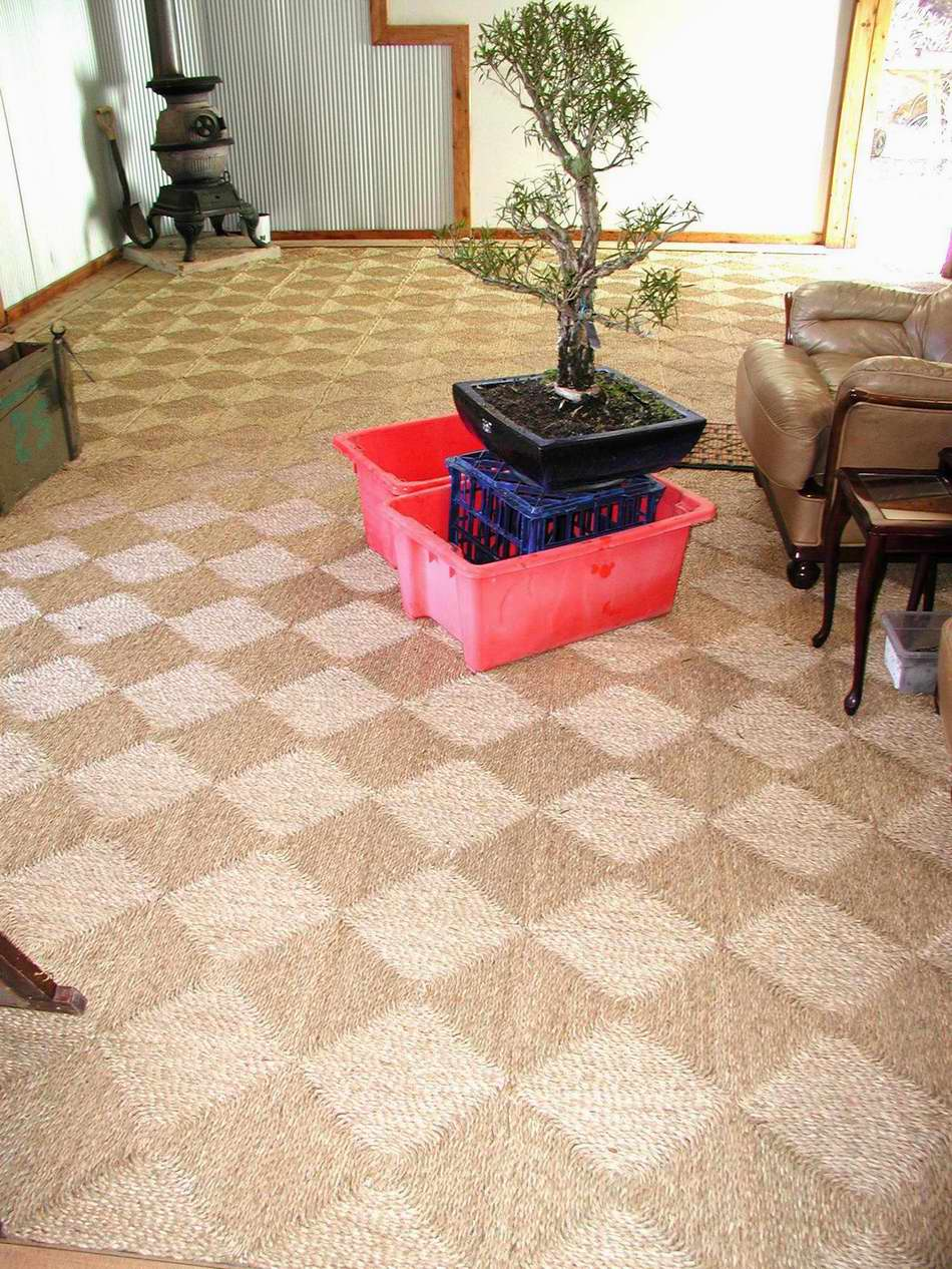 Seagrass Matting Loose Laid In The Lounge Dining And Hallway Areas - Seagrass floor squares